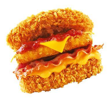 """chiveburger: """"KFC: korea 새우버거 // 징거더블다운맥스 """""""