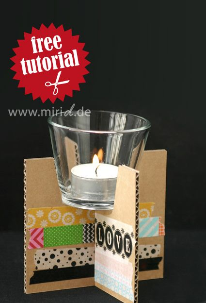 A free tutorial for these tea light holders. Including complete template. Go get it!