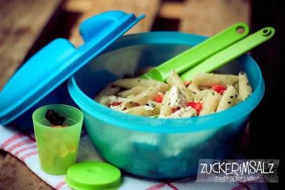 Griechischer Salat mit Schafskäse ... little big greek pasta salad