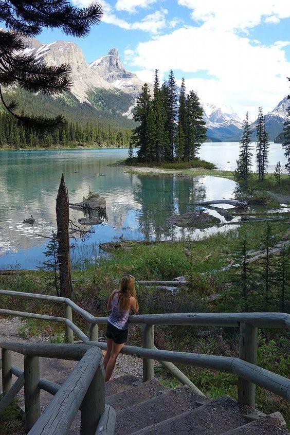 Spirit Island, Maligne Lake, Jasper National Park Alberta, Canada #alberta #canada #jasper #explorecanada