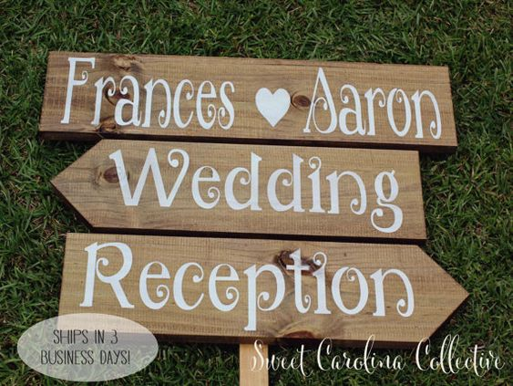 Rustic Wedding Signage, Wooden Wedding Signs, Ceremony