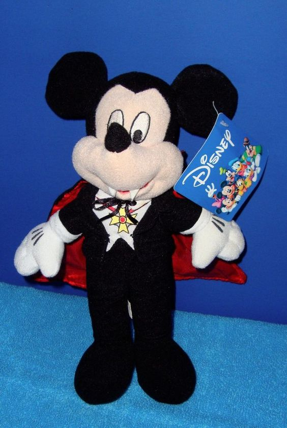 """New With Tags Mickey Mouse Vampire Prize Promo 10"""" Stuffed Animal Plushie #Disney"""