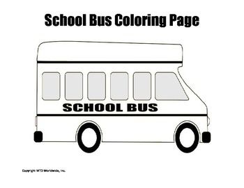 School buses Searching and Coloring pages on Pinterest