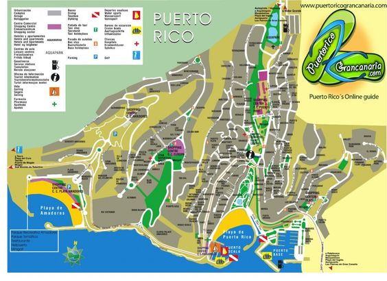 Really useful map of Puerto Rico in GranCanaria – Puerto Rico Tourist Map