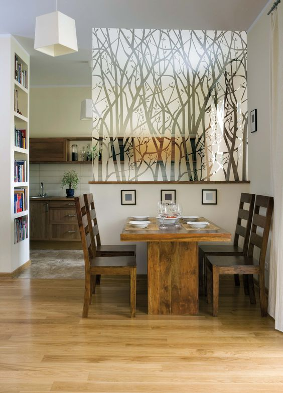 Try custom window film on a glass partition in your home for privacy and an added element of design.
