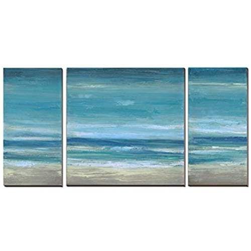 Blue Seascape Ocean Canvas Prints With Embellishment Landscape
