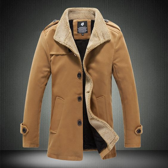 Autumn And Winter Fashion Brand Wool Coat Men Middle Long Jackets