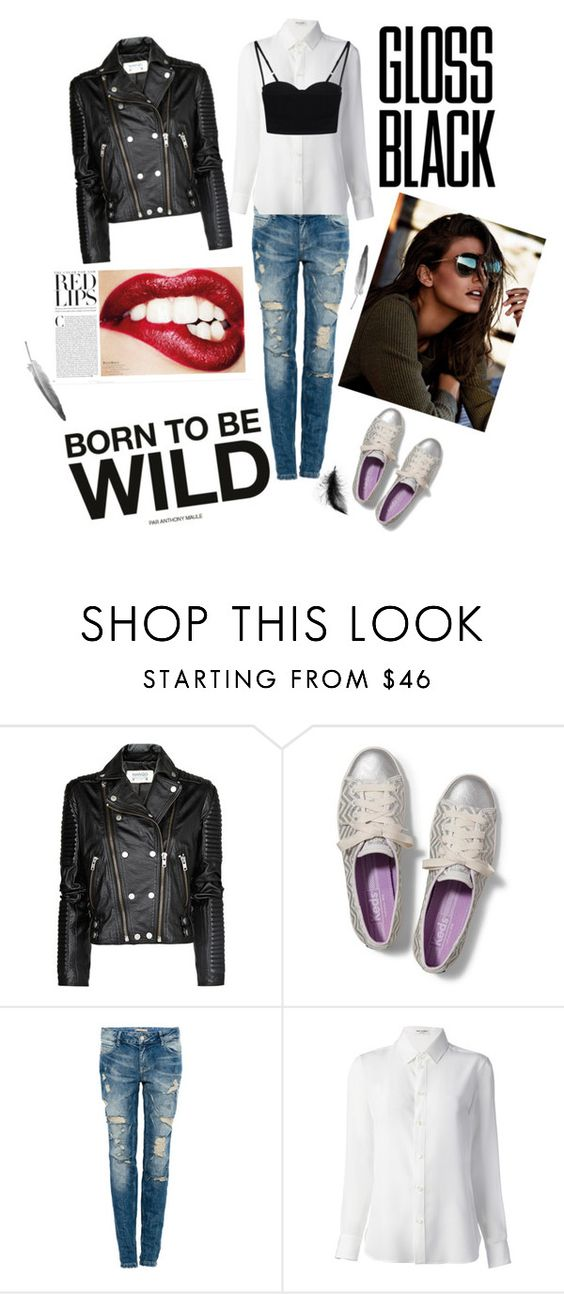 """Make it a Date with Keds - fashionista"" by vero-ruiz ❤ liked on Polyvore featuring MANGO, Keds, Pull&Bear, Yves Saint Laurent and Acne Studios"