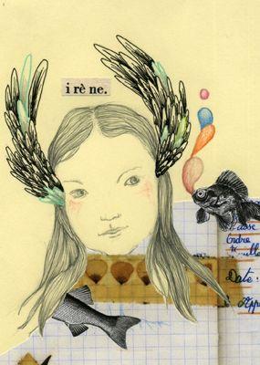 Série Meninas 'Irène'  Delphinegribouille.blogspot.com