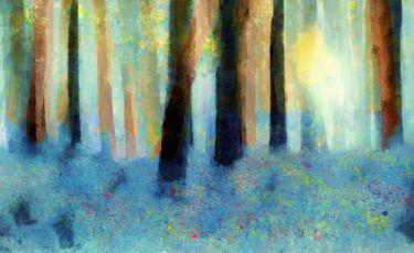"Saatchi Online Artist Valerie Anne Kelly; Painting, ""Bluebell Wood"" #art"