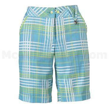 Callaway Ladies Check Trail Plaid Shorts Bachelor Button SS14 ...