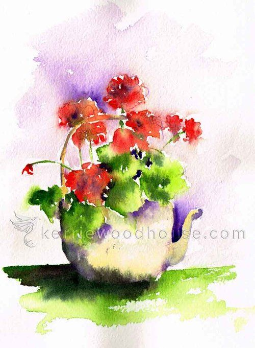 Geraniums Are One Of My Favourite Flowers To Paint So Much Vivid