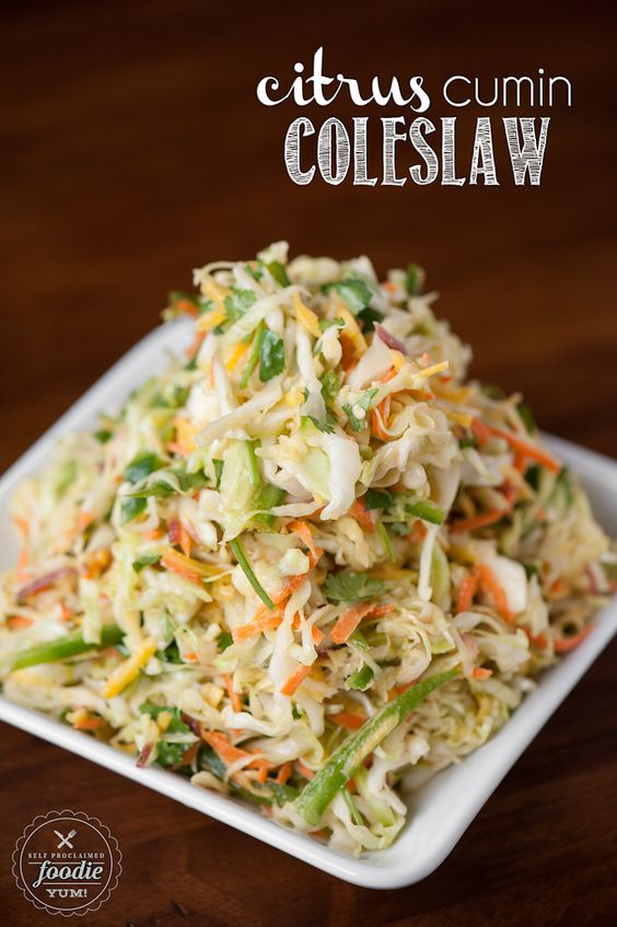 Citrus cumin coleslaw tacos style and spicy for Side dishes for fish tacos