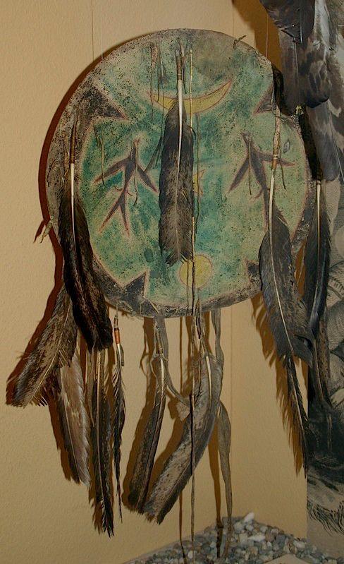 Cheyenne shield.  Ledermuseum, Offenbach  ac