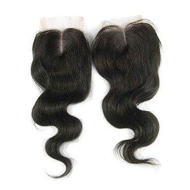 """Parte media del encierro del cordón del color natural 1 Piezas 18 """"onda del cuerpo del pelo brasileño vrigin – EUR € 70.48"""