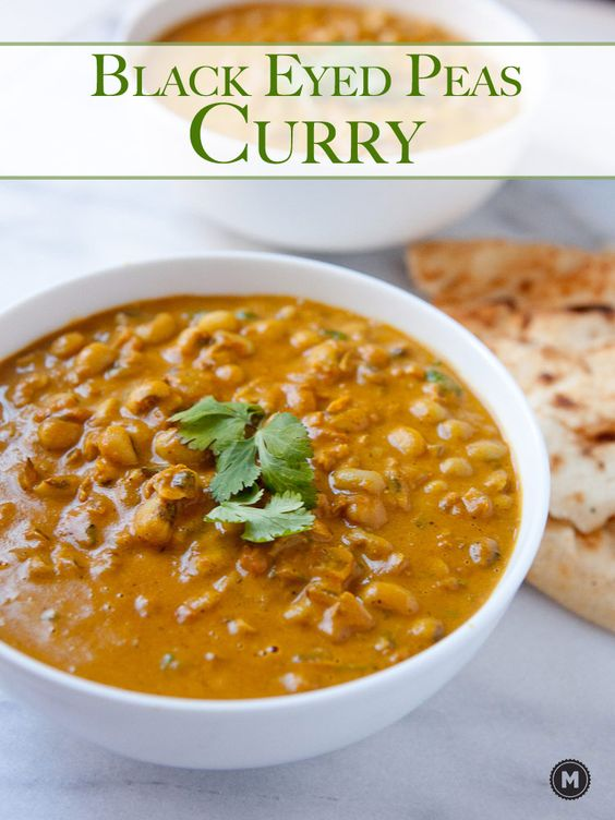 Black Eyed Peas Curry: A simple curry simmered with spices and black ...