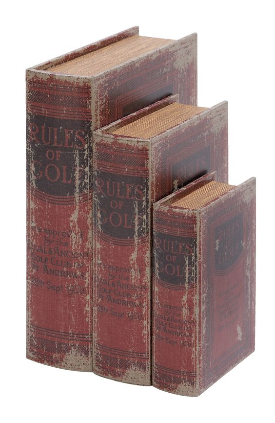 3 Piece Wood Book Box Set