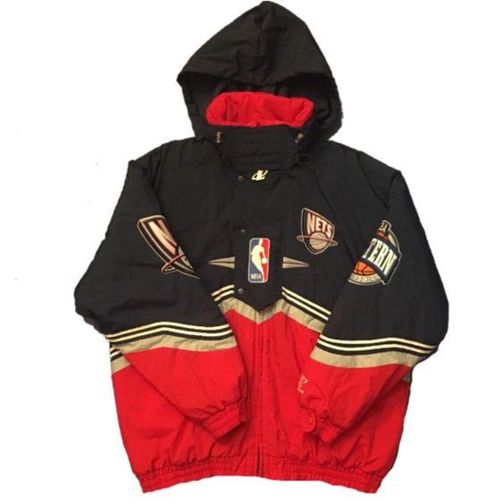 New Jersey Nets Vintage Logo Athletics Coat (XL)