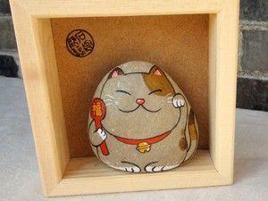 手绘石头,招财猫 - 堆糖 发现生活_收集美好_分享图片
