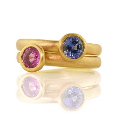 Sapphire Stackable Rings-Adel Chefridi