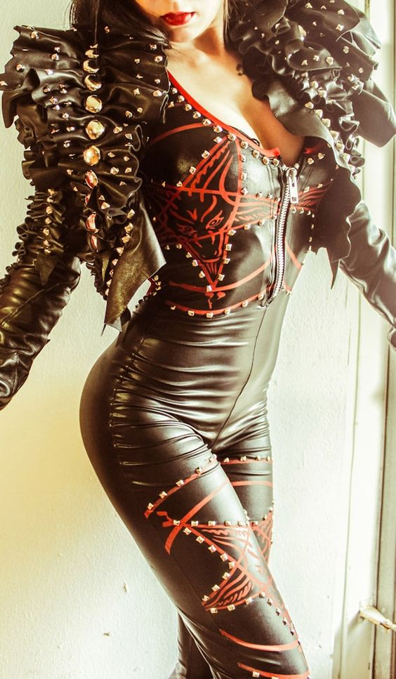 studded catsuit | Tumblr