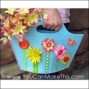 Download Free! Spring Fling Felt Purse Pattern Sewing Pattern | Featured Downloadable Sewing Patterns | YouCanMakeThis.com