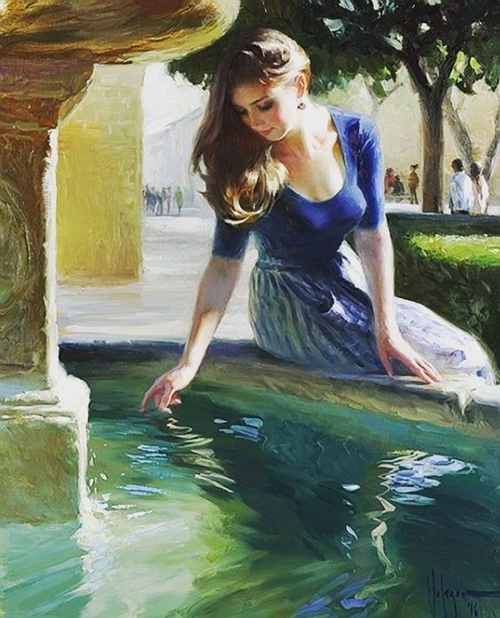 Passe passe le temps... Time goes by... Painter: Vladimir Volegov #vladimirvolegov #paintings #painter #malerei #maler #Beauty #prettygirls #girls #mädchen #woman #Schönheit #timegoesby
