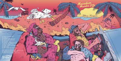 remymattei:  I made the cover illustration for the next release of the crazy guys from the label Macadam Mambo!So proud to be part of this project, this double LP is amazing.Check the preview here:https://soundcloud.com/macadam-mambo/mmlp101-macadam-mambo-djs-ultima-sensazione-preview-fev-2015