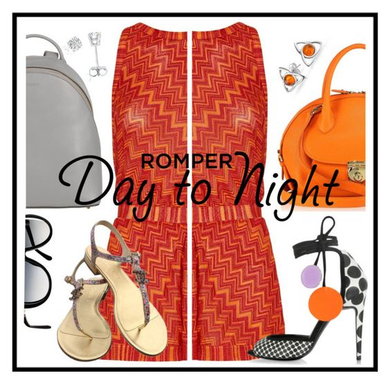 """romper"" by sandevapetq ❤ liked on Polyvore featuring Missoni Mare, Salvatore Ferragamo, Pierre Hardy, DKNY, Chanel, Amanda Rose Collection, Bling Jewelry, DayToNight and romper"