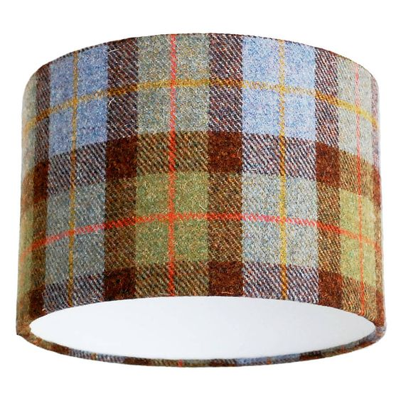 green check harris tweed lampshade by quirk | notonthehighstreet.com