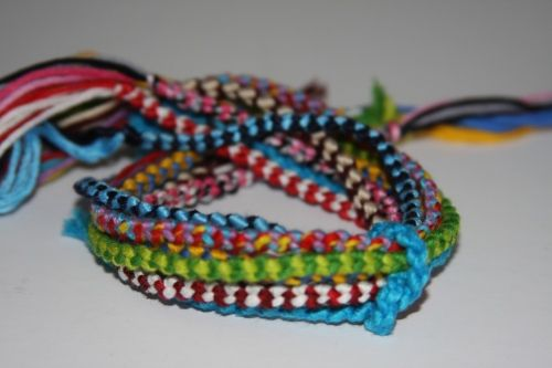 Another friendship bracelet. These are just for inspiration. Google double chain knot for instructions.
