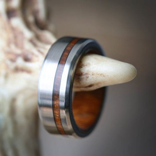 Vertigo In Wood Lining With Wood Inlay Fully Customizable Wood Wedding Ring Mens Custom Wedding Rings Wood Wedding Ring