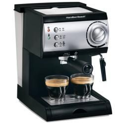 @Overstock - This Hamilton Beach 15 bar espresso/cappuccino machine is pump-driven and has a simple push-button operation. The Cappuccino Plus espresso maker brews espresso pods or freshly ground beans and features a no-fuss frother for customized beverages.http://www.overstock.com/Home-Garden/Hamilton-Beach-40715-Espresso-Cappuccino-Maker-Refurbished/5610623/product.html?CID=214117 $69.99