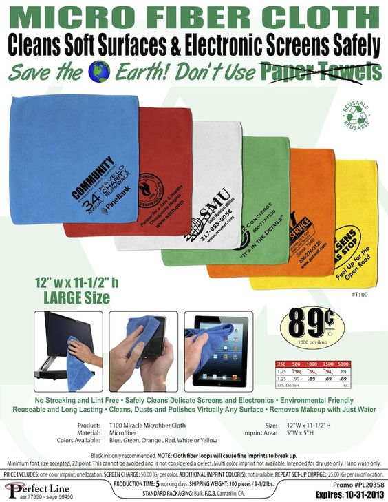 Custom Touchscreen Cloths with Your Logo!