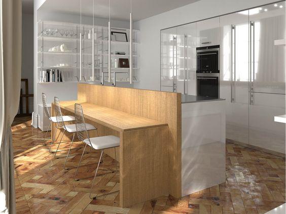 Cozinha lacada de carvalho NOBLESSE | Cozinha de carvalho Coleção Noblesse by Aster Cucine | design Lorenzo Granocchia