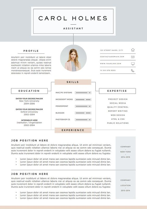 5 page Resume Template and Cover Letter by TheResumeBoutique - resume 5 pages