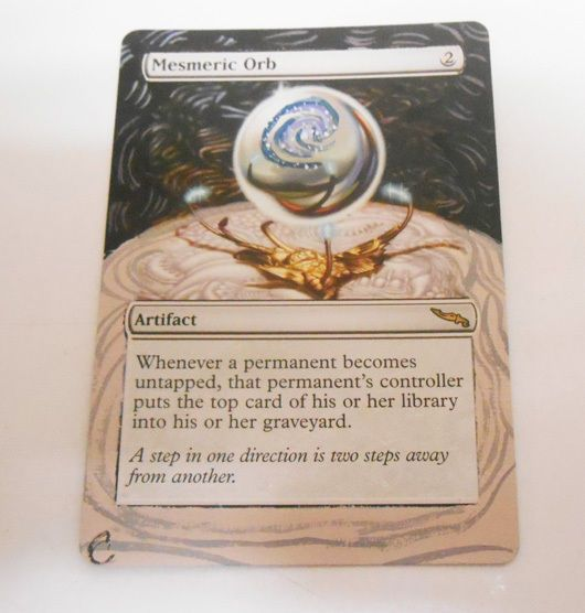 MTG Altered Painted Mesmeric Orb Mirrodin #WizardsoftheCoast