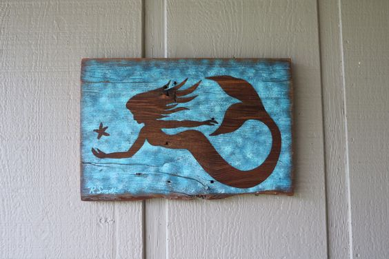 A personal favorite from my Etsy shop https://www.etsy.com/listing/263310660/mermaid-wall-decor-new