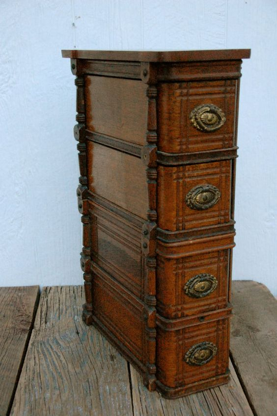 vintage sewing machine cabinet drawers
