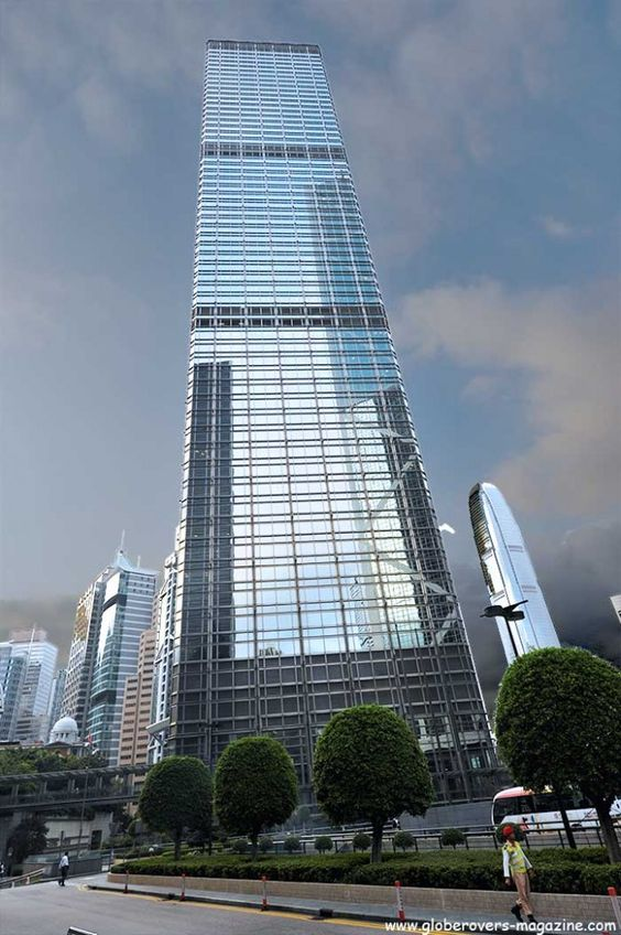 Cheung Kong Centre (63 floors, completion in 1999), Admiralty, Hong Kong Island