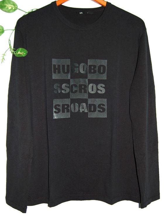 Hugo Boss Black Logo Cotton Long Sleeve Men Cotton Shirt Size 2XL Good Condition #HugoBoss #LongSleeve