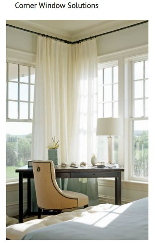 Corner Window Solutions Bedroom Corner Window Curtains Bedroom