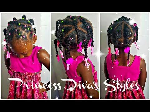 Simple Hairstyle For Those Learning How To Do Hair Kids 3 X2f 4c Natural Hair Youtube Kids Hairstyles Easy Hairstyles Natural Hair Styles