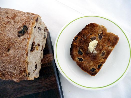 Cinnamon Raisin Walnut Bread –
