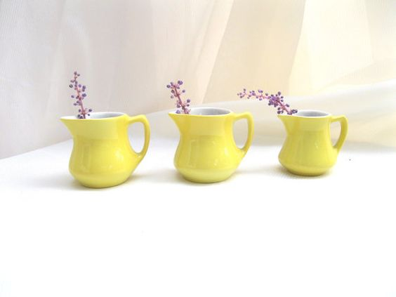 Three Vintage Sunny Yellow by tessiemay on Etsy, $32.00