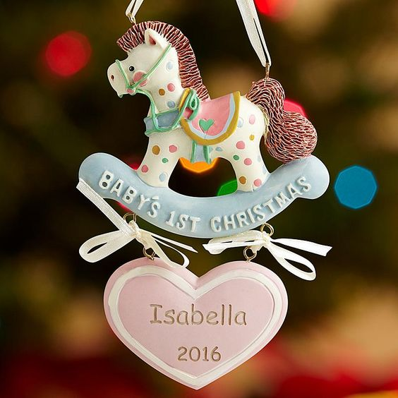 Baby's 1st Christmas Rocking Horse Ornament