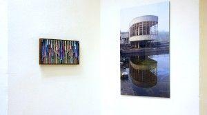 Bernhard Paul, GFH_05, 2012, Acryl auf Aludibond gerahmt, 23 x 46 cm; Holger Zimmermann, Bloso, 2010, FineArt-Plex, 5. Auflager, 90 x 60 cm Anna25 Oktober Köln Ausstellung 2013