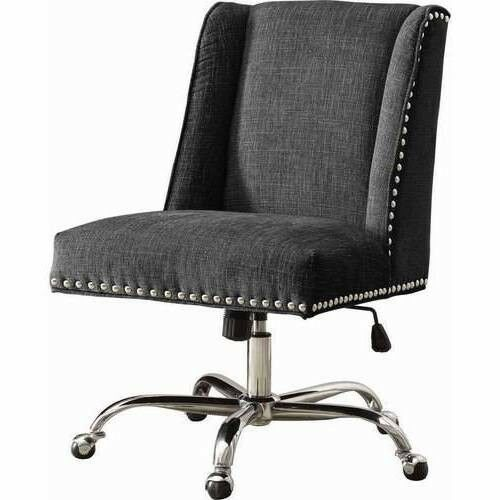 High Back Office Chair Upholstered Armless Swivel Executive Desk Wheel Furniture Devinebestbuys Highbackof Best Office Chair Office Chair Swivel Office Chair