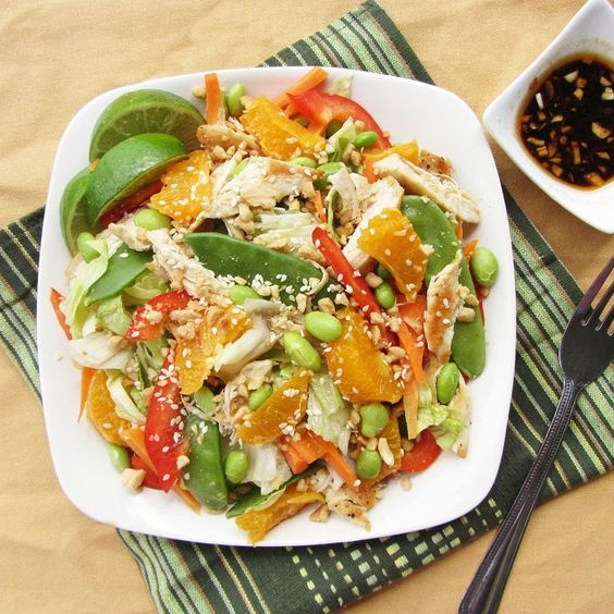10 High Protein, All Natural Main Dish Salads. This Mandarin chicken one looks delicious