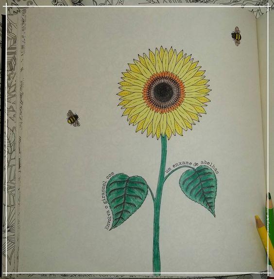 Girassol do #FlorestaEncantada Esse girassol foi pintado pela minha mãe, ficou lindo <3